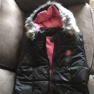 Girls with guns puffy vest